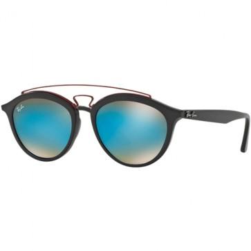 Ray-Ban 4257 Sunglasses - Matte Black/Mirror Gradient Blue