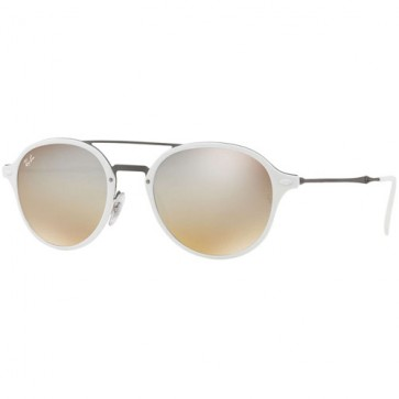 Ray-Ban RB4287 Sunglasses - White/Gunmetal/ Silver Gradient Flash