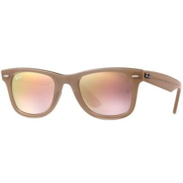 Ray-Ban Wayfarer Ease Sunglasses - Beige/Grey Gradient/Brown Mirror