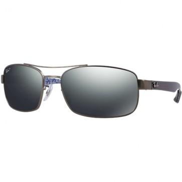 Ray-Ban RB8316 Polarized Sunglasses - Matte Gunmetal/Grey Mirror Gradient