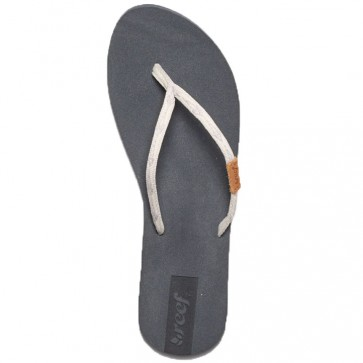 Reef Women's Slim Ginger Sandals - Grey/Silver