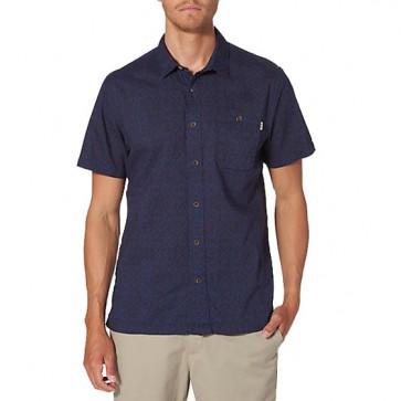 Reef Tribe Short Sleeve Shirt - Navy