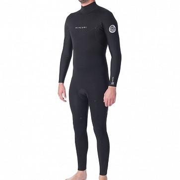 Rip Curl Dawn Patrol 4/3 Back Zip Wetsuit - Black