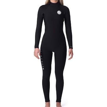Rip Curl Women's Dawn Patrol 3/2 Back Zip Wetsuit - Black
