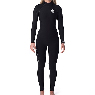 Rip Curl Women's Dawn Patrol 5/3 Back Zip Wetsuit - Black