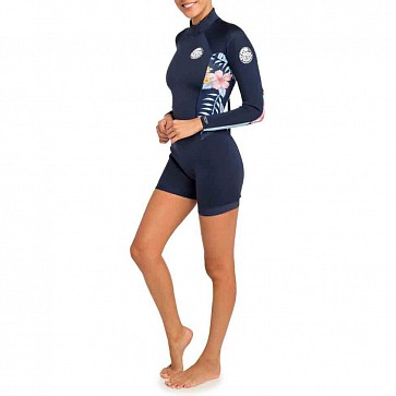 Rip Curl Women's Dawn Patrol 2mm Long Sleeve Back Zip Spring Wetsuit - Navy