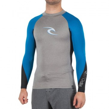 Rip Curl Wetsuits Wave Long Sleeve Rash Guard - Light Grey