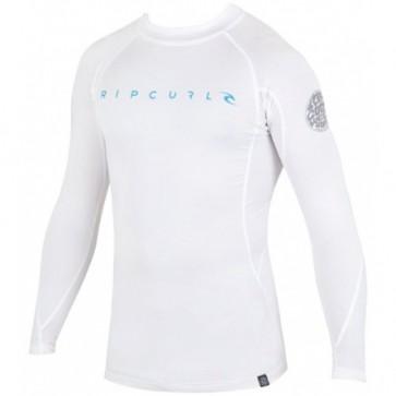 Rip Curl Wetsuits Dawn Patrol Long Sleeve Rash Guard - White