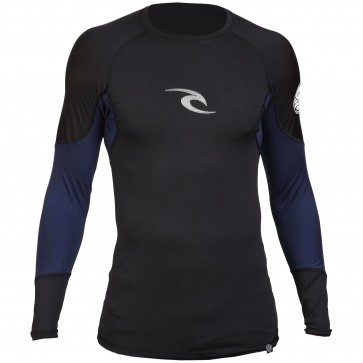Rip Curl Wetsuits E-Bomb Long Sleeve Rash Guard - Black