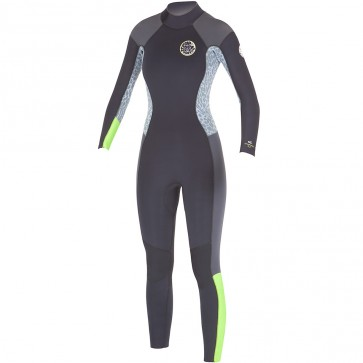 Rip Curl Women's Dawn Patrol 4/3 Back Zip Wetsuit - Lemon
