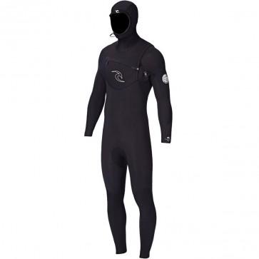 Rip Curl Dawn Patrol 5/4 Hooded Wetsuit - Black