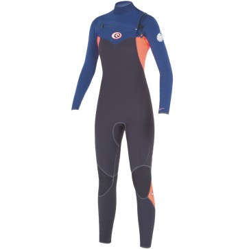 Rip Curl Women's Flash Bomb 3/2 Chest Zip Wetsuit - Navy