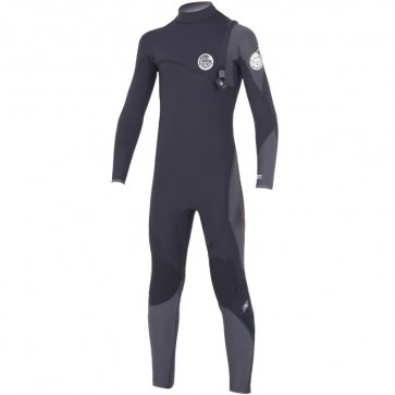 Rip Curl Youth Flash Bomb 4/3 Zip Free Wetsuit - Black