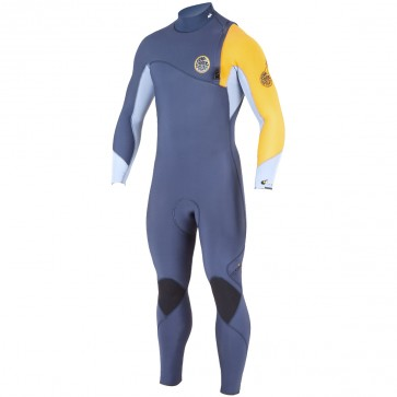 Rip Curl Flash Bomb 4/3 Zip Free Wetsuit - Slate