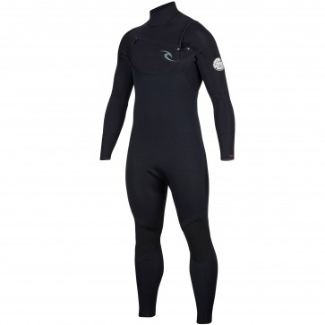 Rip Curl Dawn Patrol 3/2 Chest Zip Wetsuit  - Black