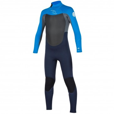 Rip Curl Youth Dawn Patrol 4/3 Back Zip Wetsuit - Slate