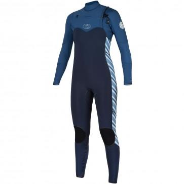 Rip Curl Women's Flash Bomb 3/2 Chest Zip Wetsuit - Navy