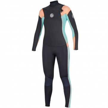 Rip Curl Women's Dawn Patrol 4/3 Chest Zip Wetsuit - Peach