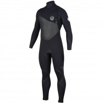 Rip Curl Flash Bomb Plus 4/3 Zip Free Wetsuit - Black