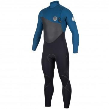 Rip Curl Flash Bomb Plus 4/3 Zip Free Wetsuit - Blue