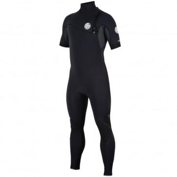 Rip Curl E-Bomb Pro 2/2 Short Sleeve Zip Free Wetsuit - Black