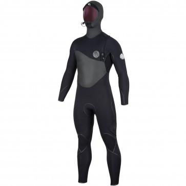 Rip Curl Flash Bomb Plus 6/4 Hooded Zip Free Wetsuit - Black