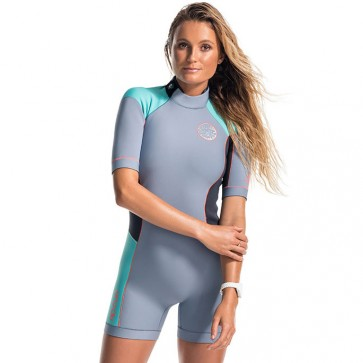 Rip Curl Women's Dawn Patrol Short Sleeve Spring Wetsuit  - Turquoise