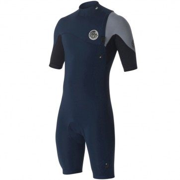 Rip Curl E-Bomb Pro Short Sleeve Zip Free Spring Suit - Navy