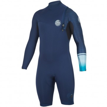 Rip Curl E-Bomb 2mm Long Sleeve Zip Free Spring Suit - Navy