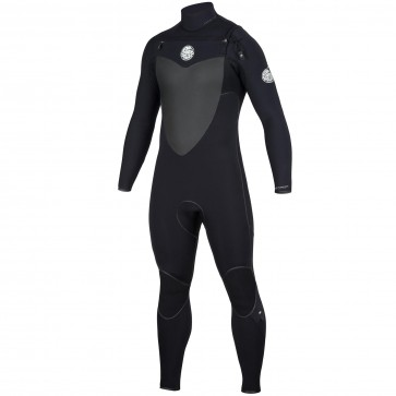 Rip Curl Flash Bomb 3/2 Chest Zip Wetsuit - Black