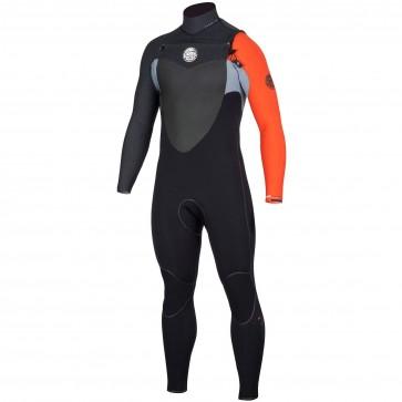 Rip Curl Flash Bomb 3/2 Chest Zip Wetsuit - Orange