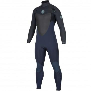 Rip Curl Flash Bomb 4/3 Chest Zip Wetsuit - Slate