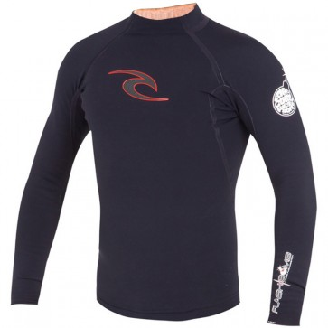 Rip Curl Wetsuits Flash Bomb 0.5mm Long Sleeve Jacket - Black