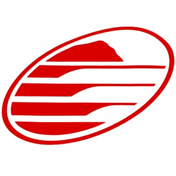 Cleanline Surf Big Rock Oval Sticker - Red