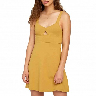 RVCA Women's All Talk Dress - Camel