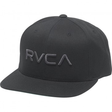 RVCA Twill Snapback III Hat - Black/Charcoal