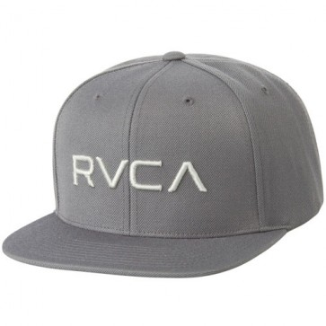 RVCA Twill Snapback III Hat - Dark Grey