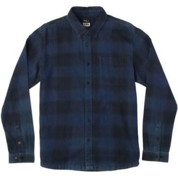 RVCA Pressured Flannel - Faded Indigo