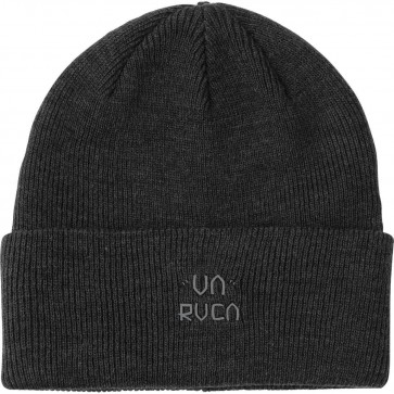 RVCA Slate Beanie - Charcoal Heather
