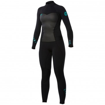 Roxy Women's Syncro 4/3 Back Zip Wetsuit - Black