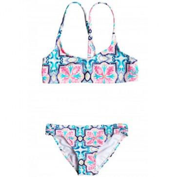 Roxy Youth Girls Molokai Floral Swimsuit - Fleur De Lune