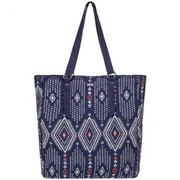 Roxy Women's Boho Party Tote Bag - Geo Carpet Combo Eclipse