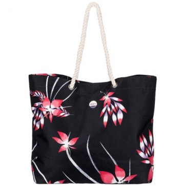 Roxy Women's Tropical Vibe Tote Bag - Anthracite Mistery Floral