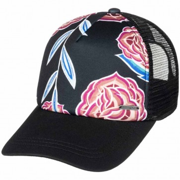 Roxy Women's Water Come Down Trucker Hat - Anthracite Mexican Rose