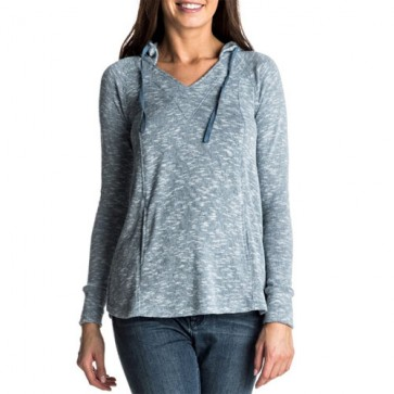 Roxy Women's Wasted Time Hooded Top - Captains Blue