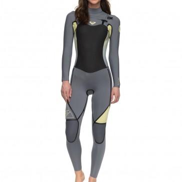 Roxy Women's Syncro Plus 3/2 Chest Zip Wetsuit - Camellia