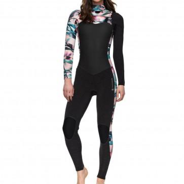 Roxy Women's Performance 4/3 Chest Zip Wetsuit - Black