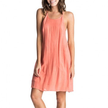 Roxy Women's Passing Sky Dress - Living Coral
