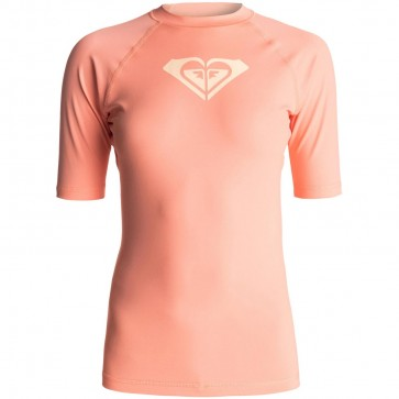 Roxy Women's Whole Hearted Rash Guard - Sunkissed Coral