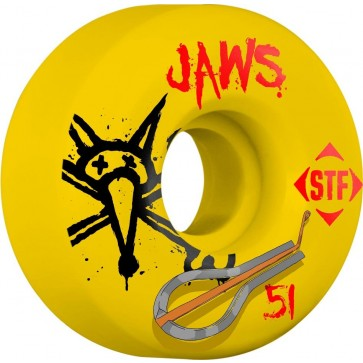 Bones 51mm STF Pro Homoki Harp Wheels - Yellow